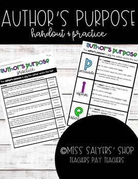 Author's Purpose Notes/Handout