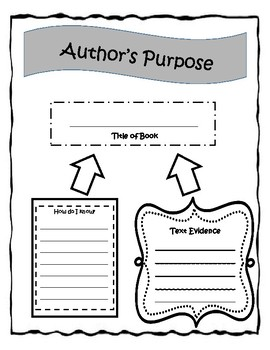 Author's Purpose Organizer