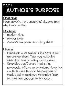 Author's Purpose {P.I.E.}
