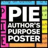 PIE Author's Purpose Bulletin Board - English Classroom Decor