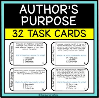 Author's Purpose Task Cards!