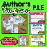 Author's Purpose Anchor Charts and Activities (PIE)