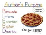 Author's Purpose PIE'ED Poster