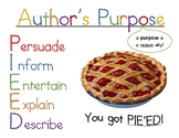 Author's Purpose PIE'ED Poster
