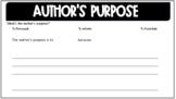 Author's Purpose PIE Graphic Organizer