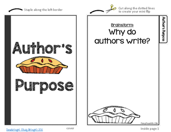 Author's Purpose PIE Mini Flipbook
