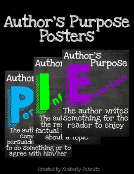 Author's Purpose PIE Posters FREEBIE
