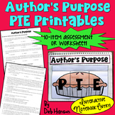Author's Purpose PIE Printables: Assessment and Interactive Notebook Entry