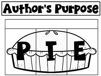 Author's Purpose PIE by Almost Heaven Kindergarten | TpT