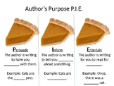 Author's Purpose PIE Slideshow, Notes, and Printable Cards