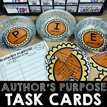 Author's Purpose PIE Task Cards