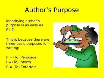 Author's Purpose PTA Skills Bundle