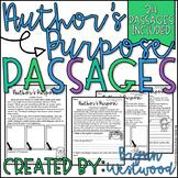 Author's Purpose Passages-24 Passages to Practice Identifying Author's Purpose