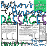 Author's Purpose Passages-24 Passages to Practice Identify