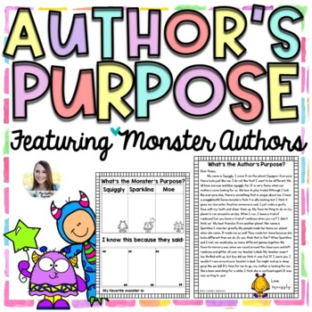 Author's Purpose Passages (Monster Authors)