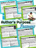 Author's Purpose   Reading Comprehension Passages   RI2.6