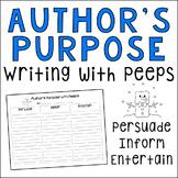 Author's Purpose Peeps Writing Activity