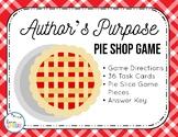 Author's Purpose Pie Shop Game