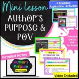 Author's Purpose & Point of View Middle School Mini Lesson & Activities RI.6