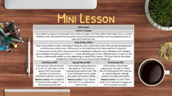 Author S Purpose Point Of View Using Video No Prep Lesson Rl 6