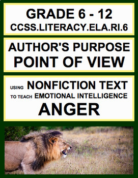 Author's Purpose Point of View with SEL Nonfiction Article