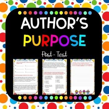 Author's Purpose Post Quiz PIE