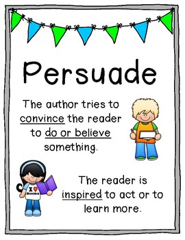 author s purpose poster set persuade inform entertain by abby