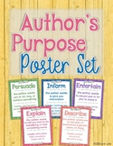 Author's Purpose Poster Set: Persuade, Inform, Entertain,
