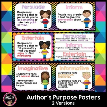 Author's Purpose Posters