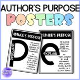 Author's Purpose Posters   ELA Skill   Bulletin Board Letters   Decor