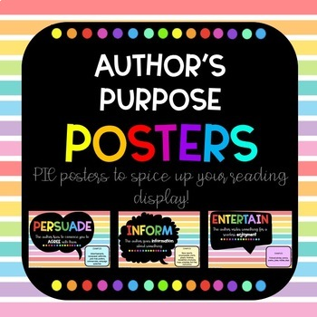 Author's Purpose Posters PIE