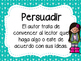 Author's Purpose Posters in Spanish/ Proposito del Autor