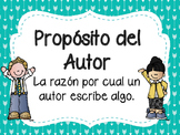 Author's Purpose Posters in Spanish/ Proposito del Autor