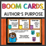 Author's Purpose Practice Boom Cards™ Distance Learning Ac