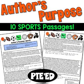 Author's Purpose Practice: Sports Passages