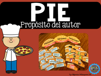 Spanish Author's Purpose/Proposito del Autor