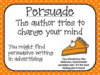 Author's Purpose Pumpkin PIE
