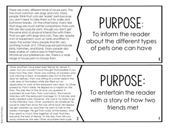 Author's Purpose Puzzles | 4th and 5th Grade Reading Center