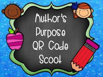 Author's Purpose QR Code Scoot Activity