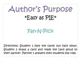 Author's Purpose Quiz Cards