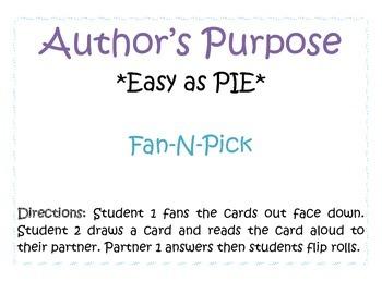 Author's Purpose Quiz Cards