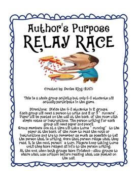 Author's Purpose RELAY RACE