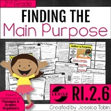 Author's Purpose 2nd Grade RI.2.6 with Digital Learning Li