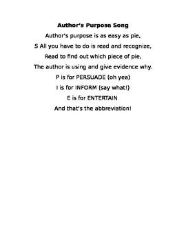 Author's Purpose Rap