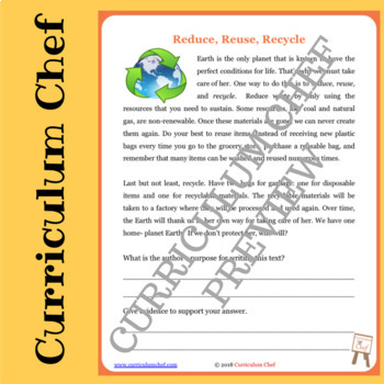 Author's Purpose Reader's Theater Packet with Reading/Writing Activities!