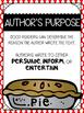 Author's Purpose {Reading Comprehension Skill}