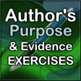 Author's Purpose Reading Exercises