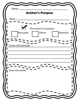 Author's Purpose - Reading Skill