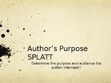 Author's Purpose SPLATT game
