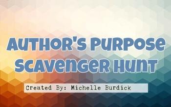 Author's Purpose Scavenger Hunt